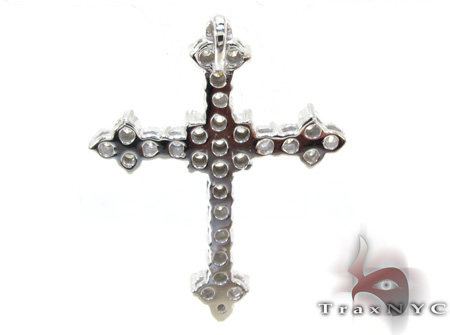 Ladies Prong Diamond Cross Crucifix 21206 Style