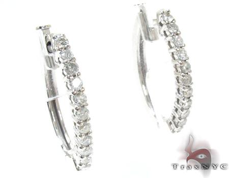 Ladies Prong Diamond Earrings 21207 Stone