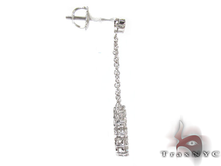 Ladies Prong Bezel Diamond Earrings 21195 Stone