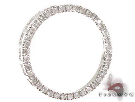 Ladies White Gold Diamond Circle Pendant 21481 Stone