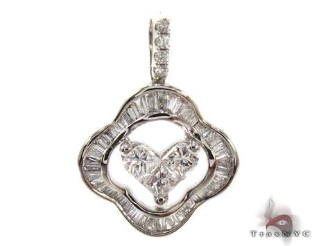 Ladies White Gold Diamond Heart Pendant 20869 Style