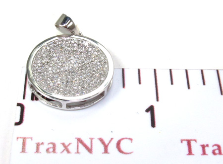 Ladies White Gold Pave Diamond Pendant 21494 Stone