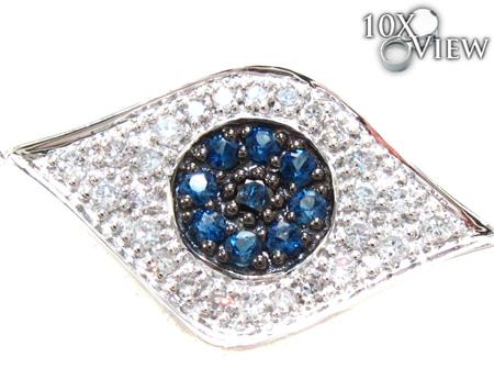 Ladies Evil Eye White Gold Two Color Diamond Bracelet 21296 Diamond