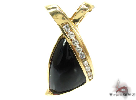 Ladies Onyx & Diamond Pendant 20842 Stone