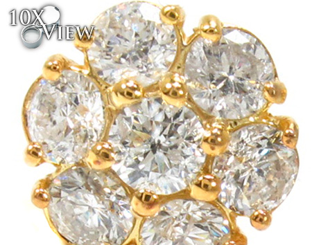 Large Blossom Studs 21121 Stone