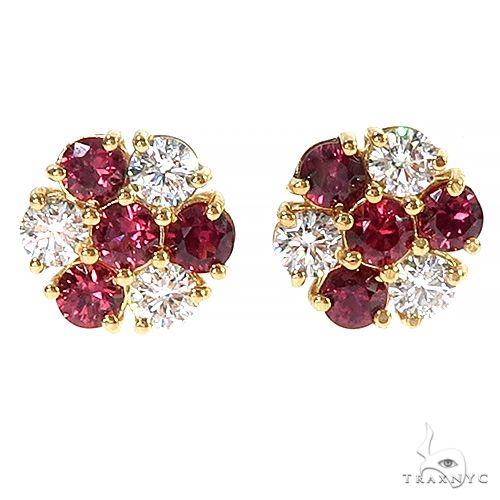 Large Candy Cane Sapphire Diamond Earrings 66975 Multicolor SAPPHIRE