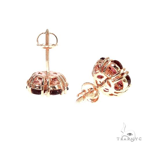Large Crimson Sapphire Diamond Flower Earrings 66898 Multicolor SAPPHIRE