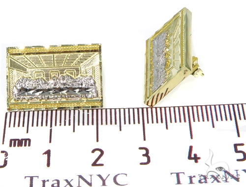 Last Supper Gold Earrings 45489 Metal