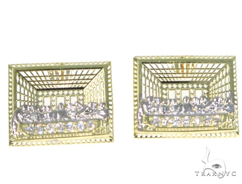 Last Supper Gold Earrings 45490 Metal