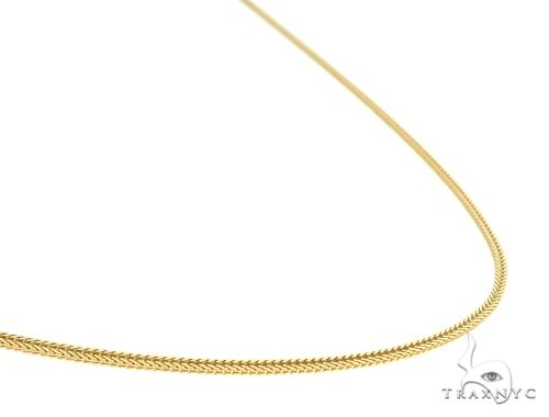 Lightweght Durable 10K Yellow Gold Foxtail Link Chain 20 Inches 1.2mm 1.85 Grams Gold
