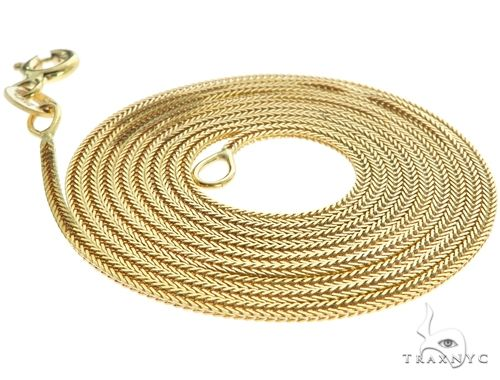Lightweght Durable 10K Yellow Gold Foxtail Link Chain 24 Inches 1.2mm 2.2 Grams Gold