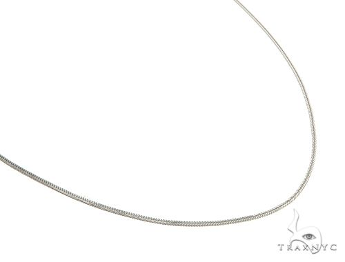 Lightweight Durable 10K White Gold Foxtail Link Chain 20 Inches 1.2mm 2.1 Grams Gold