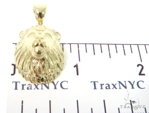 Small Lion Head Gold Pendant 45317 Metal