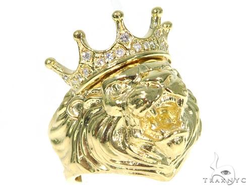 Lion King Diamond Ring 45445 Metal