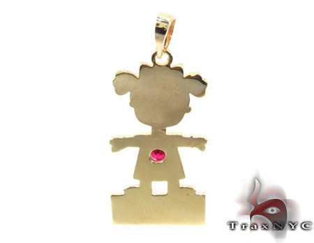Little Girl Gold Pendant Metal