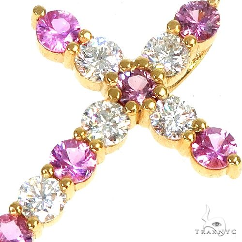 Majesty Sapphire Diamond Cross 66955 Multicolor SAPPHIRE