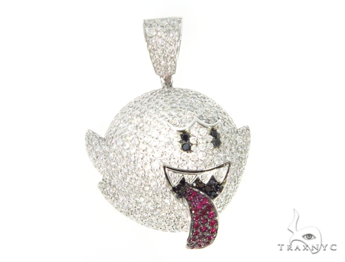 Mario Ghost Diamond Ruby Pendant 45528 Metal