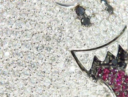 Mario Ghost Diamond Ruby Pendant 45528 Metal