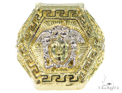 Medusa Gold Ring 45460 Metal