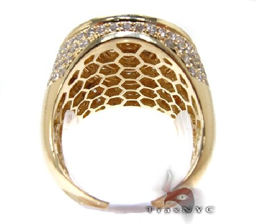 Mens 10K Gold Mayan Pinky Ring 63609 Stone