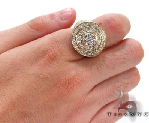 Mens 10K Gold Mayan Pinky Ring 63609 Stone