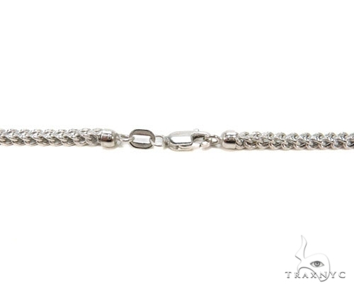 Mens 10k Hollow White Gold Franco Chain 28 Inches 2.1mm 8.92 Grams 47483 Gold