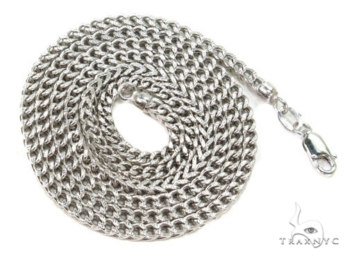 Mens 10k Hollow White Gold Franco Chain 30 Inches 2.1mm 9.48 Grams 47484 Gold