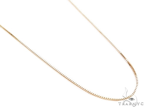 Mens 10k Hollow Yellow Gold Box n n 22 Inches 0.5mm 1.08 Grams 46901 Gold