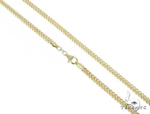 Mens 10k Hollow Yellow Gold Franco Chain 28 Inches 5.4mm 38.00 Grams 47683 Gold