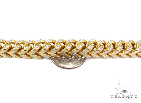 Mens 10k Hollow Yellow Gold Franco Chain 28 Inches 6.8mm 78.45 Grams 47441 Gold