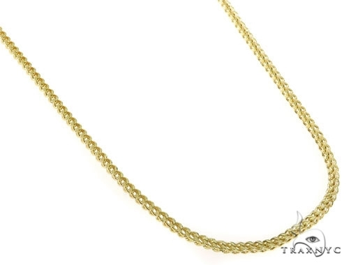 Mens 10k Hollow Yellow Gold Franco Chain 34 Inches 2.7mm 16.77 Grams 47676 Gold