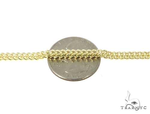 Mens 10k Hollow Yellow Gold Franco Chain 36 Inches 3mm 27.33 Grams 47654 Gold