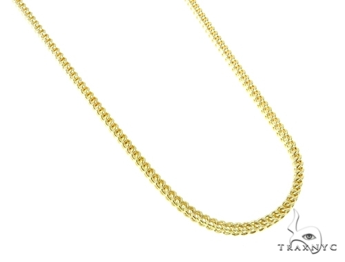 Mens 10k Hollow Yellow Gold Franco Chain 40 Inches 3.3mm 31.90 Grams 47671 Gold