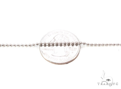 Mens 10k Solid White Gold Ball Chain 20 Inches 1.8mm 4.85 Grams 46824 Gold