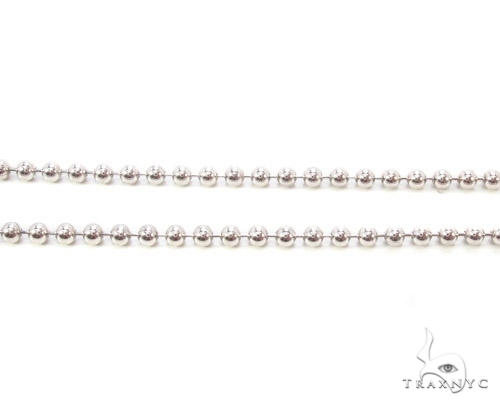 Mens 10k Solid White Gold Ball Chain 22 Inches 1.8mm 5.42 Grams 46825 Gold