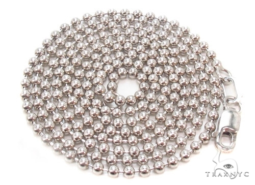 Mens 10k Solid White Gold Ball Chain 28 Inches 2.3mm 10.90 Grams 46834 Gold