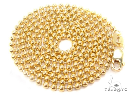 Mens 10k Solid Yellow Gold Ball Chain 22 Inches 1.8mm 5.36 Grams 46852 Gold
