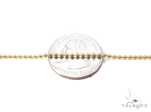 Mens 10k Solid Yellow Gold Ball Chain 22 Inches 2.3mm 9.08 Grams 46845 Gold