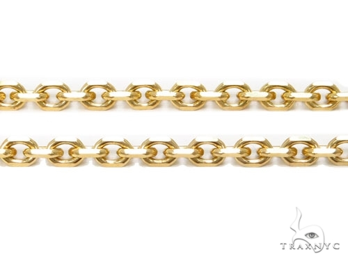 Mens 10k Solid Yellow Gold Cable Chain 22 Inches 1.8mm 4.60 Grams 46923 Gold