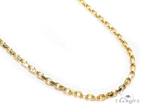 Mens 10k Solid Yellow Gold Cable Chain 26 Inches 3.6mm 21.30 Grams 46935 Gold