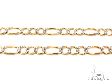 Mens 10k Solid Yellow Gold Figaro Chain 20 Inches 5.5mm 14.60 Grams 47327 Gold