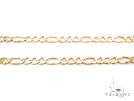 Mens 10k Solid Yellow Gold Figaro Chain 22 Inches 3.5mm 8.08 Grams 47357 Gold