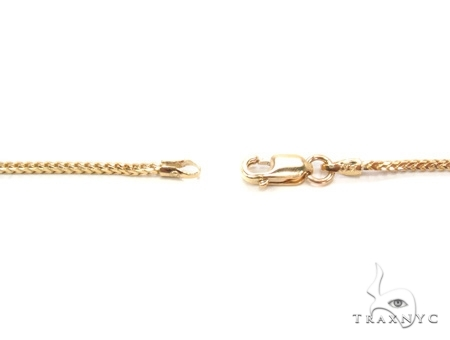 Mens 10k Solid Yellow Gold Franco Chain 20 Inches 1.6mm 7.34 Grams 47735 Gold