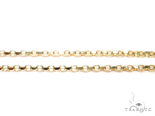 Mens 14k Hollow Yellow Gold Cable n 24 Inches 4.7mm 14.13 Grams 47016 Gold
