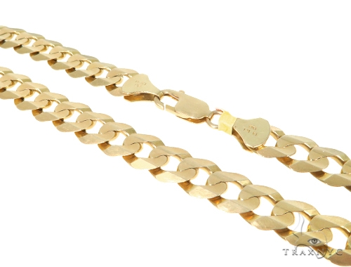 Mens 14k Hollow Yellow Gold Cuban/curb Chain 24 Inches 10 mm 69.7 Grams 43228 Gold