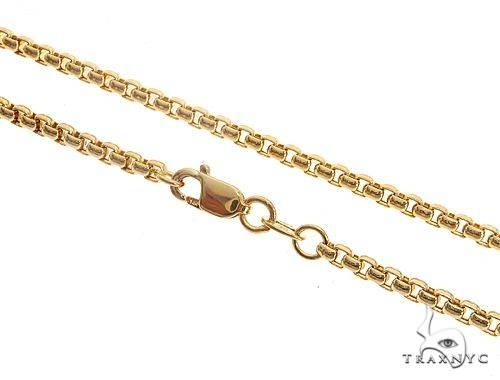 Mens 14k Hollow Yellow Gold Round Box Chain 24 Inches 3.5mm 14.95 Grams 48770 Gold