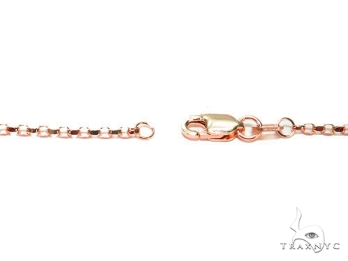 Mens 14k Solid Rose Gold Cable Chain 18 Inches 0.9mm 1.27 Grams 47021 Gold