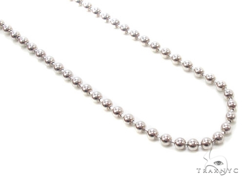 Mens 14k Solid White Gold Ball Chain 22 Inches 2.3mm 9.50 Grams 46840 Gold
