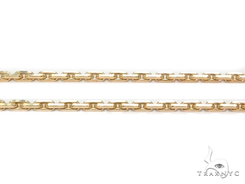 Mens 14k Solid Yellow Gold Boston Link Chain 18 Inches 0.6mm 1.35 Grams 46873 Gold