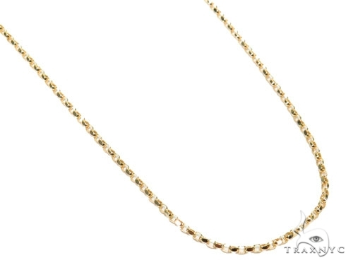 Mens 14k Solid Yellow Gold Cable Chain 18 Inches 0.7mm 1.50 Grams 47025 Gold
